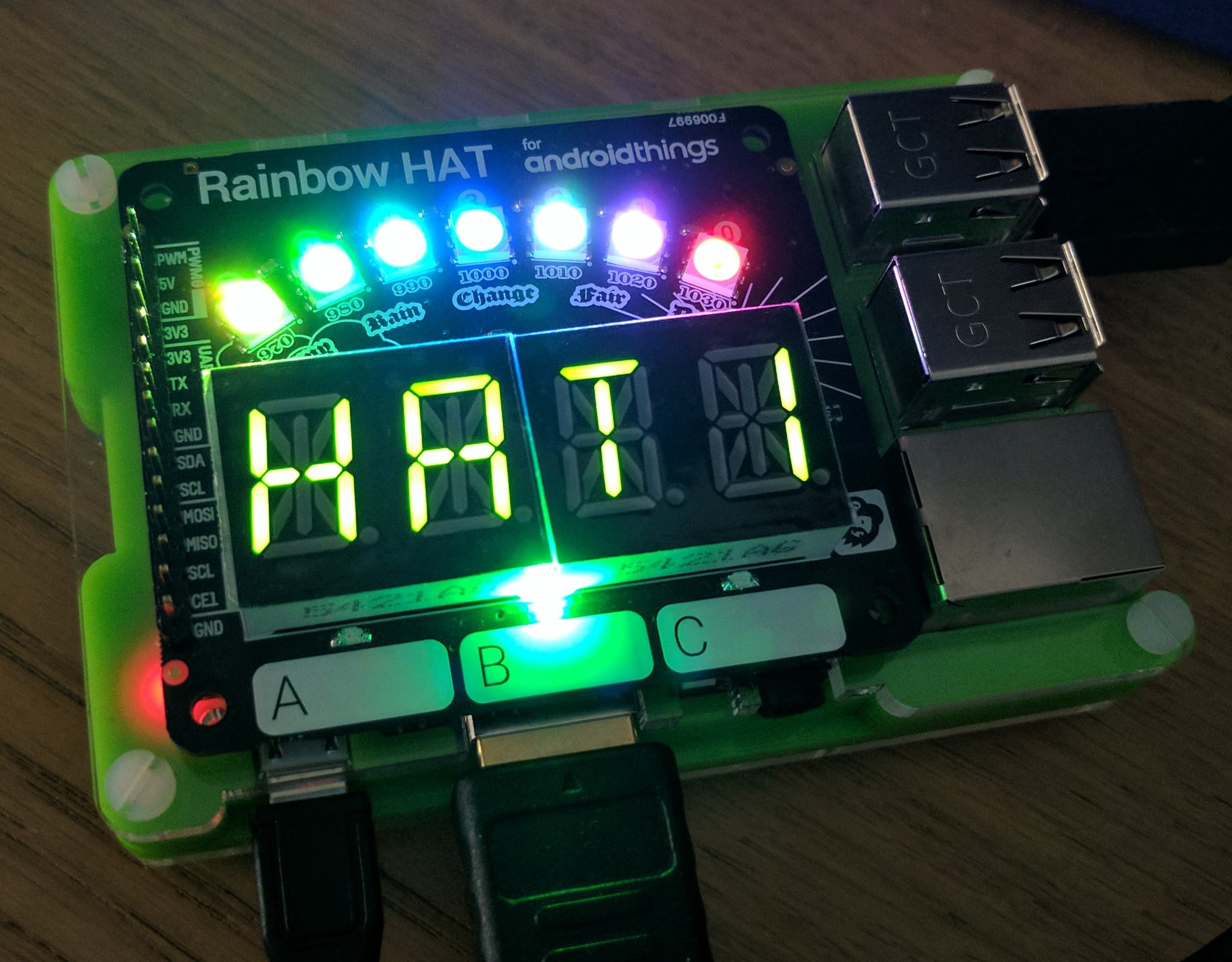 Android Things Rainbow Hat - Hello World